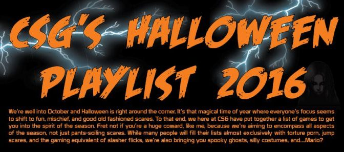 CSG's Halloween Gaming Playlist 2016