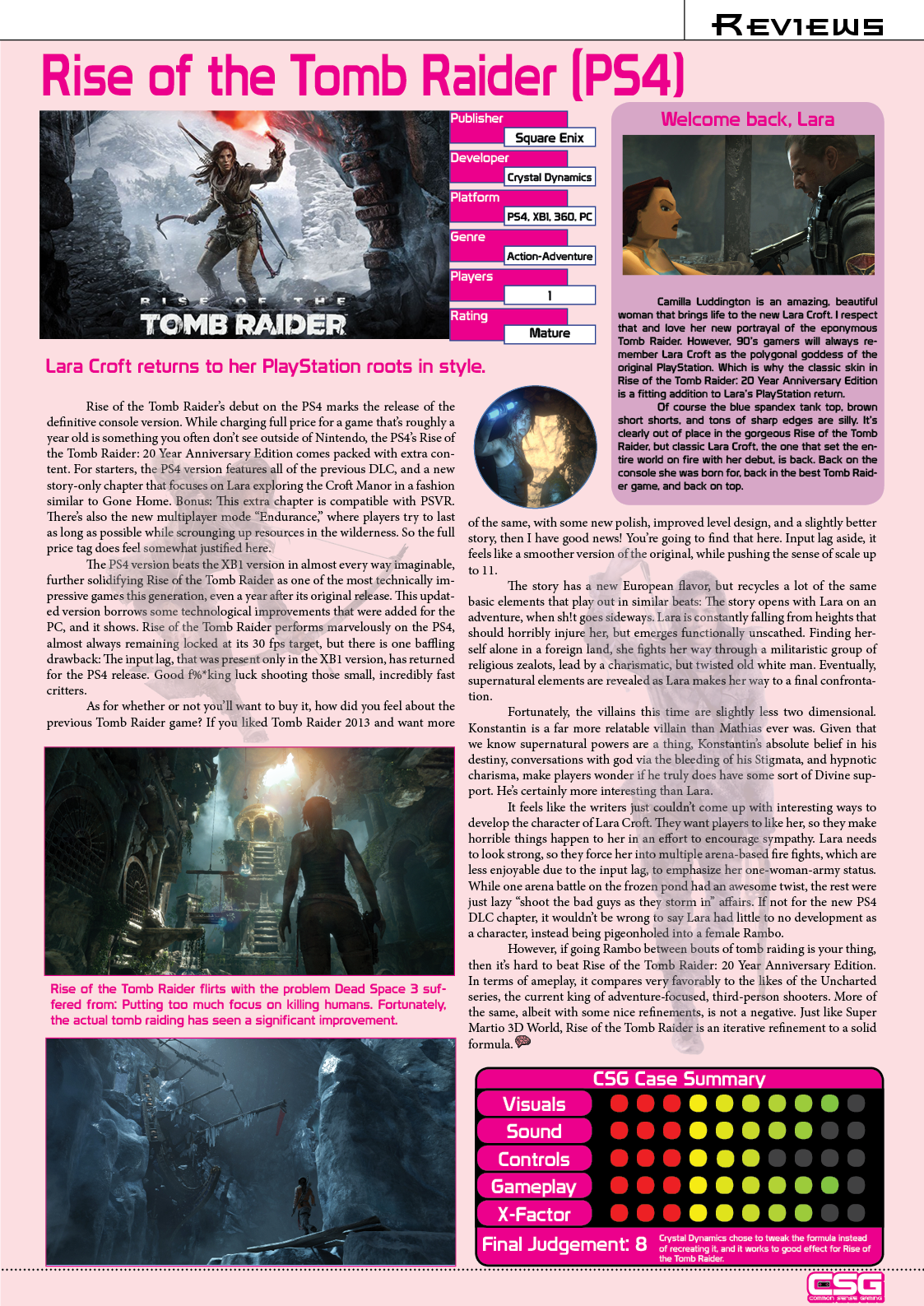 Review Rise Of The Tomb Raider 20 Year Anniversary Edition Common Sense Gaming