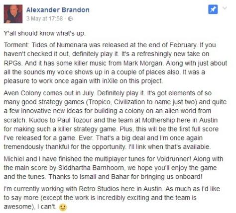 Alexander Brandon Metroid Prime Retro