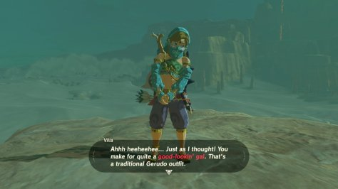 Breath of the Wild Gerudo Outfit Link