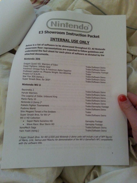 Fake E3 leaks Nintendo