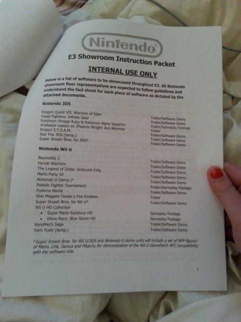 Fake E3 leaks Nintendo
