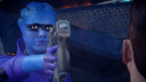 Mass Effect Andromeda Peebee Backwards Gun