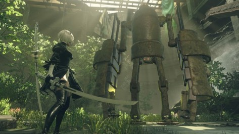 Nier Automata 2B vs Machine