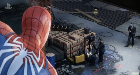 Spiderman Watching Crime PS4