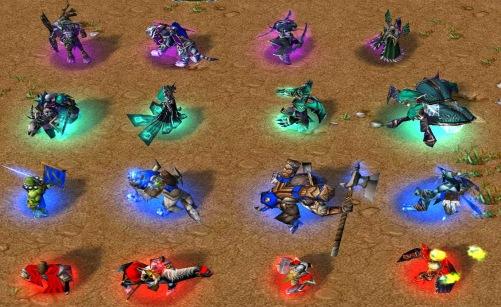 Warcraft 3 Hero Lineup