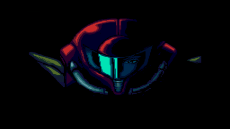 Super Metroid Opening Sprite Art Samus Aran
