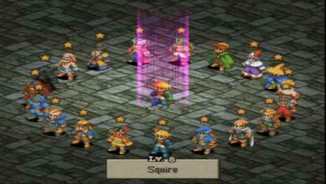 Final Fantasy Tactics Jobs Select Screen