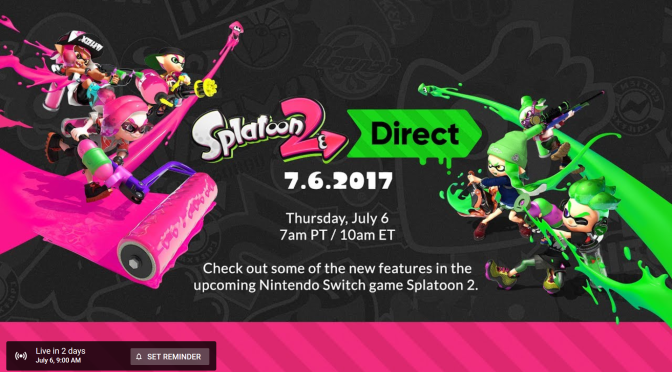 Splatoon 2 Nintendo Direct is inkoming