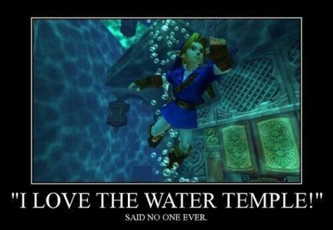 The Legend of Zelda Ocarina of Time Water Temple Link