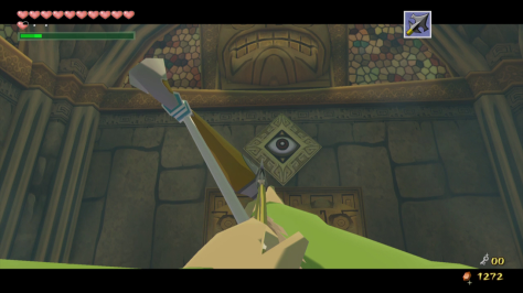 The Legend of Zelda Windwaker HD Eye Switch Dungeon Link Arrow